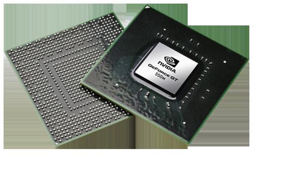 Видеокарта для ноутбука nVidia GeForce GT 550M